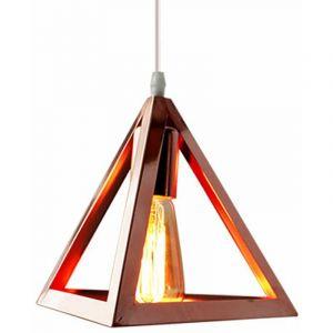 Suspension Luminaire Industrielle Contemporain, Lustre Abat-Jour Plafonnier en Métal Fer Cage E27 (Vert) - STOEX