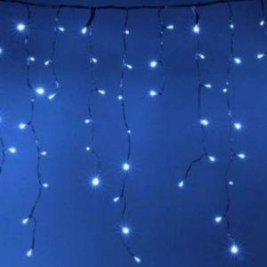 Guirlande LED Rideaux 140LED 220V 3m IP44 8 modes - Bleu - SILAMP