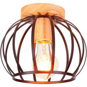 Applique Murale Industrielle 22cm en Métal fer, Lampe Rétro Loft Éclairage Vintage Edison Douille E27 pour Décoration de Maison , Bar , Restaurants, Café, Club, Blanc - STOEX