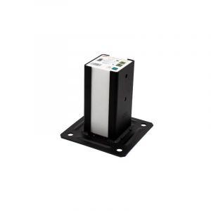 Pied de poteau carré noir section 91x91 mm pour Claustras - SIMPSON