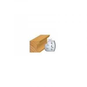 176 : jeu de 2 fers 40 mm congé quart de rond 12 mm pour porte outils 40 et 50 mm - LUXOUTILS