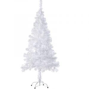 Sapin Artificiel de Noël 150 cm 310 Branches en PVC Blanc - TECTAKE