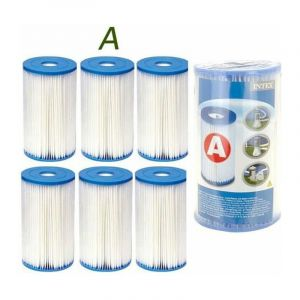 Cartouche de filtration Intex Type A Lot de 6 - ACHAT UTILE