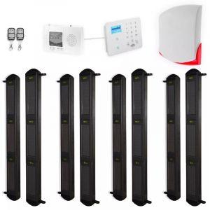 Kit complet 4 détections barrières FX 3B portée 900m + alerte GSM appel/SMS + sirène sans-fil puissante (gamme FX/KP) - ULTRA SECURE