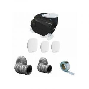 Kit complet vmc simple flux 3 bouches autocosy plus gaines et bande alu - ATLANTIC