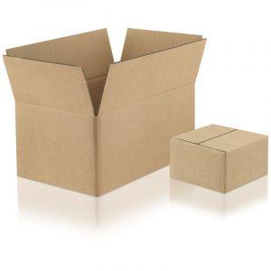 Lot de 100 Cartons double cannelure 2W-33 format 200 x 200 x 200 mm - ENVELOPPEBULLE