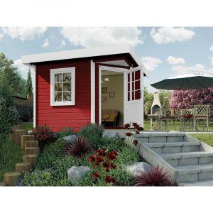 Abri pentagonal design 213, Taille 1, rouge suédois - WEKA