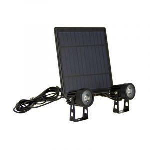 Double Projecteur LED Solaire, 350 Lumens, Spéciale Extérieur (IP44) - PACK2PSO350 - Xanlite