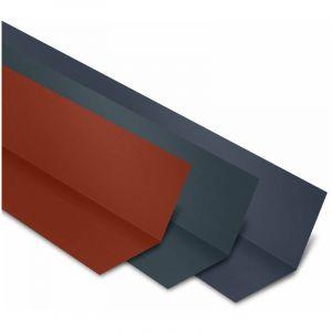 Faîtière Plate Contre Mur 2100 mm Acier Laqué | Bleu Ardoise | RAL 5008 - YOUSTEEL
