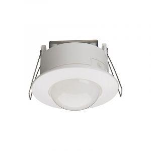Détecteur de mouvement infrarouge plafond semi-encastré 360° blanc - HAGER