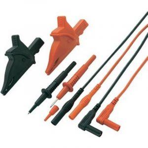 Set de cordons de mesure de sécurité 1.2 m noir, rouge VOLTCRAFT MS-5