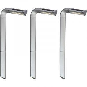 Ensemble de 3 lampes solaires d'extérieur à LED pour balcon - ETC-SHOP