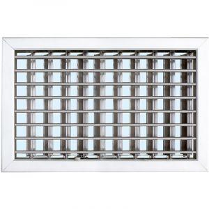 Grille cheminée à encastrer 220x150mm - Aluminium - Ailettes avec rideau - FIRST PLAST
