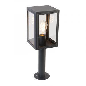 Lampadaire d'extérieur gris 50 cm IP44 - Sutton Rustique Luminaire exterieur IP44 cube - Qazqa
