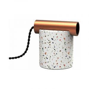 Lampe à poser ÉCLIPSE en terrazzo & métal cuivré, culot E27   Xanlite
