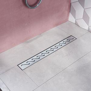 Modèle en S, (70cm) Inox, Siphon de canal de douche évacuation d'eau SIRHONA