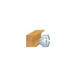 220 : jeu de 2 fers 50 mm 1/4 de rond multiple pour porte outils 50 mm - LUXOUTILS