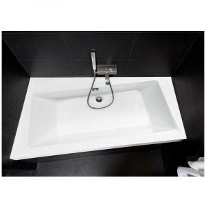 Baignoire angle gauche ZIANIGO avec tablier - Dimensions: 150 cm - AZURA HOME DESIGN