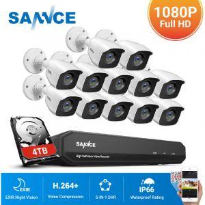 Annke Kit caméra de surveillance filaire 8CH 5 en 1 DVR 3MP enregistreur + 8 caméra HD 1080P Extérieur vision nocture 20m – avec 8 caméra dôme + disque dur 1 TB
