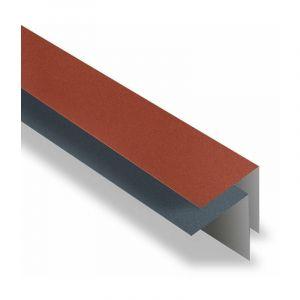 Faîtière Simple à Rabat 2100 mm Acier Mat Texturé | Rouge mat texturé | RAL 8012 - YOUSTEEL