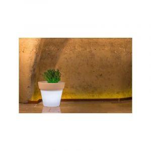 Pot de Fleurs Begonia en résine Rond H95 Lampe Blanche Ø 110Cm - IDRALITE