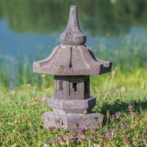Wanda Collection - Lampe de jardin japonais en pierre de lave 50cm