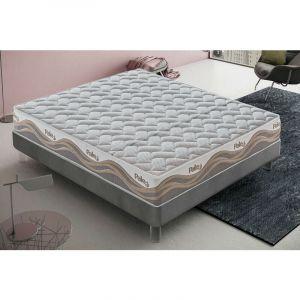 """Matelas 90x200 """"Pale"""" en mousse à mémoire de forme et micro-ressorts en tissu thermosensible à 9 zones - MATERASSIEDOGHE"""