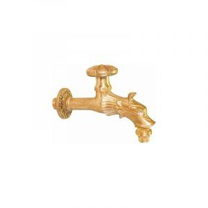 Robinet antique pour fontaine - M 1/2' - M 3/4' - Laiton poli - Puteus