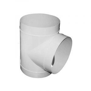 Raccord T en PVC 125mm 90° conduit ventilation - WINFLEX