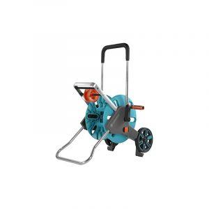 Dévidoir de tuyau sur roues nu GARDENA 18515-20 turquoise, orange, gris