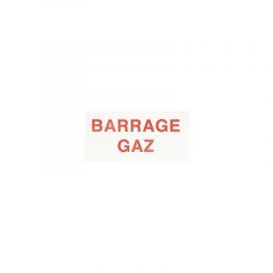 Étiquette plastique rigide rectangulaire | L x H: 150 x 75 - Signalisation: Barrage gaz