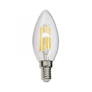 Ampoule à filament LED flamme, culot E14, 4W cons. (40W eq.), lumière blanc chaud - RFV470F - Xanlite