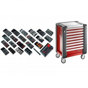 CM.230 Sélection tous métiers 230 outils et servante de 9 tiroirs 9 tiroirs - FACOM