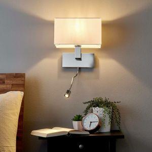 LED Applique Murale Tissu 'Tamara' en textile pour salon & salle à manger - LAMPENWELT