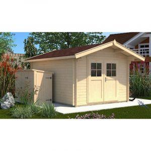 Abri de jardin Premium 28, Taille 3, Avancée de toit de 60 cm - WEKA