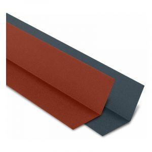 Faîtière Plate Contre Mur 2100 mm Acier Mat Texturé | Rouge mat texturé | RAL 8012 - YOUSTEEL