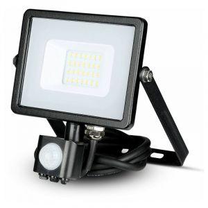 Projecteur LED Extérieur Avec Détecteur Infrarouge Pro 20W Ip65 Samsung Chip Noir Vt-20-s - Blanc Froid - 6400k V-TAC PRO