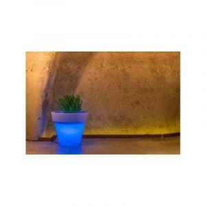 Pot de Fleurs Begonia en résine Rond H45 Lampe Bleue Ø 50Cm - IDRALITE