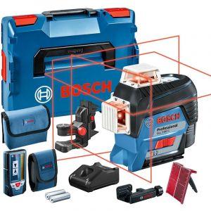 Bosch Laser lignes GLL 3-80 C, avec 1 x 2,0-Ah-Li-Ion-batterie, assortiment d'accessoires - 0601063R05