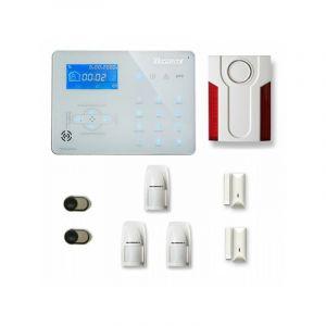 Alarme maison sans fil ICE-B27 Compatible Box internet et GSM - TIKE SéCURITé