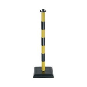 Novap - Poteau PVC Jaune/Noir sur socle lesté 3kg - 1000018