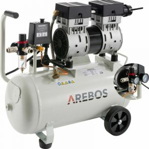 Compresseur d'air 24 litres (800 W, 8 bar, 120 l/min) - AREBOS