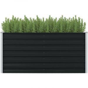 Jardinière surélevée Anthracite 160x80x77 cm Acier galvanisé HDV29843 - Hommoo