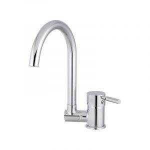 EUROSANIT Mitigeur d'évier à bec basculant tamise chromé