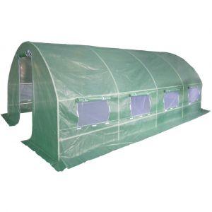 Serre de jardin tunnel 18 m² 6x3x1.9 m effet de serre tube acier 25 mm - DEMA