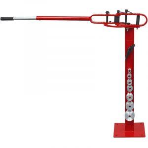 Cintreuse manuelle d'acier au montage sur plancher - VIDAXL