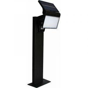 KITE - Borne Solaire 75cm LED IP44 - Détection IR - 5W Blanc Naturel 4000K - 350lm - Batterie Lithium-ion 2000mAh - Noir - NORMALUX