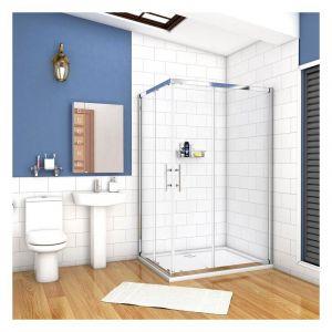 90x80x195cm porte de douche coulissante avec un receveur correspondant à la dimension de la cabine de douche - AICA SANITAIRE