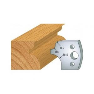 011 : jeu de 2 fers 40 mm talon et quart de rond pour porte outils 40 et 50 mm - LUXOUTILS