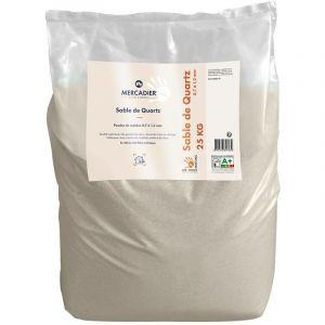 Sable de Quartz 0,7 à 1,2 mm - 25Kg